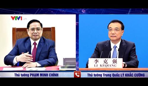 Thủ tướng Phạm Minh Chính điện đàm với Thủ tướng Quốc vụ viện Trung Quốc Lý Khắc Cường - ảnh 1