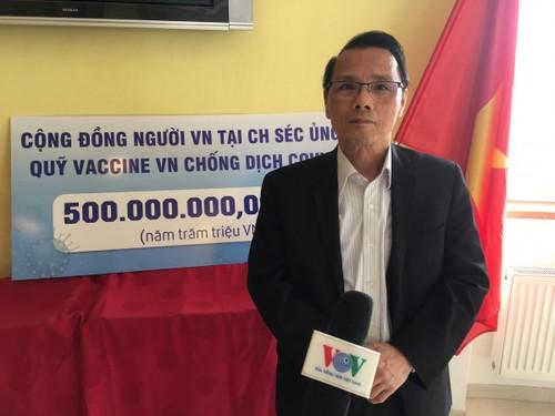 Cộng đồng người Việt Nam tại Séc chung tay ủng hộ quỹ vaccine phòng chống Covid-19 - ảnh 2