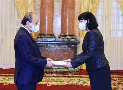 Chủ tịch nước Nguyễn Xuân Phúc tiếp các Đại sứ trình quốc thư - ảnh 3