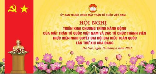 Ủy ban Trung ương Mặt trận Tổ quốc Việt Nam triển khai Nghị quyết Đại hội Đảng toàn quốc lần thứ XIII - ảnh 1