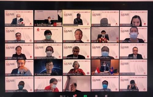 Khai mạc Hội nghị trực tuyến các nhà lãnh đạo Hội Chữ thập đỏ, Trăng lưỡi liềm đỏ khu vực Đông Nam Á lần thứ 18 - ảnh 1