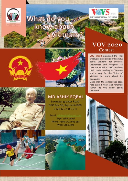 """Results of VOV's 2020 """"What do you know about Vietnam?"""" contest   - ảnh 1"""