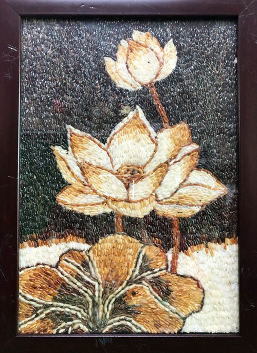 Mekong Delta youth's rice paintings project nurtures students' creativity - ảnh 2