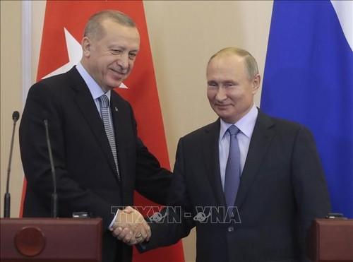 Presidentes de Rusia y Turquía debaten conflictos en Libia y Siria - ảnh 1