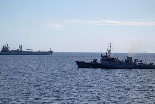 Fuerzas navales del Cuarteto y Francia realizan ejercicios en el océano Índico - ảnh 1