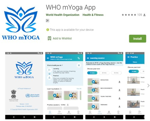 WHO mYOGA app – practice yoga at the comfort of your home  - ảnh 2