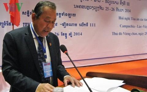 Gerichte Vietnams, Laos und Kambodschas arbeiten im Kampf gegen transnationale Kriminalität zusammen - ảnh 1