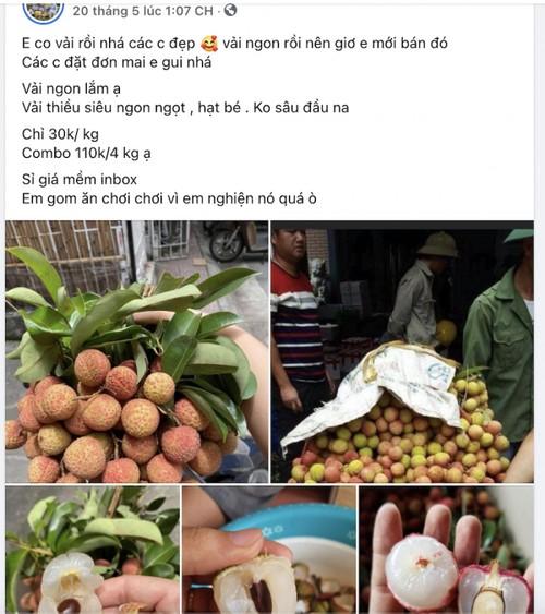 """Vải đầu mùa bán tràn Hà Nội: Hút khách từ """"chợ mạng"""", ven đường đến siêu thị - ảnh 21"""