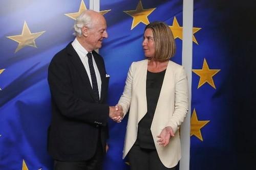 Unión Europea y la ONU abogan por la paz en Siria - ảnh 1
