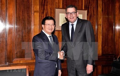Vicepremier vietnamita se reúne con líderes de la Asociación Empresarial de Vietnam en Australia - ảnh 1