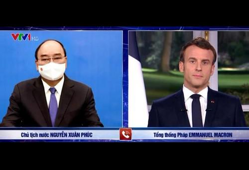 Los presidentes de Vietnam y Francia debaten sobre medidas de promoción de las relaciones bilaterales - ảnh 1