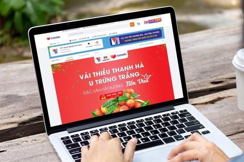 Productos agrícolas vietnamitas aprovechan las plataformas de comercio electrónico - ảnh 1