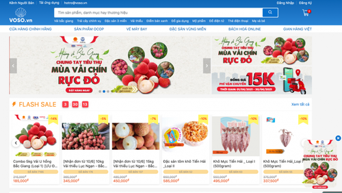 Pabellones de productos vietnamitas en línea, base para el ecosistema de comercio electrónico nacional - ảnh 1
