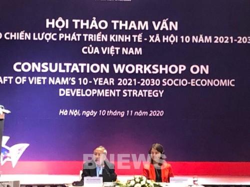 Consultation sur le projet de stratégie de développement socioéconomique pour 2021-2030 - ảnh 1