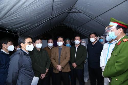 Covid-19: Vu Duc Dam inspecte la prévention à Hai Duong et à Quang Ninh - ảnh 1