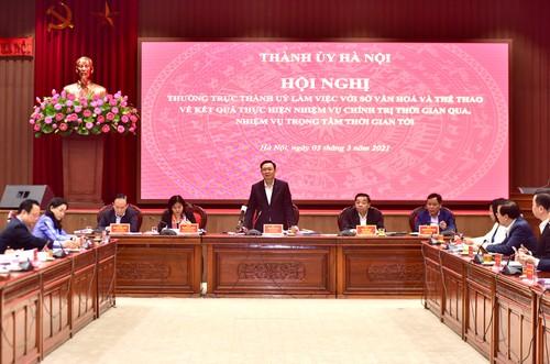 Vuong Dinh Huê souhaite que Hanoï demeure un grand centre culturel du pays - ảnh 1