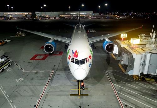Bamboo Airways effectue son premier vol direct vers les États-Unis  - ảnh 1