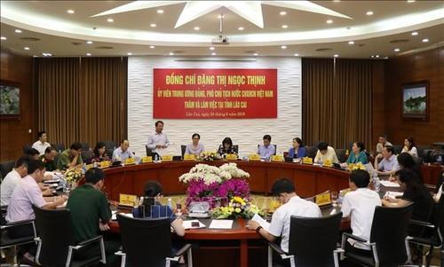 Phó Chủ tịch nước Đặng Thị Ngọc Thịnh làm việc với tỉnh Lào Cai - ảnh 1
