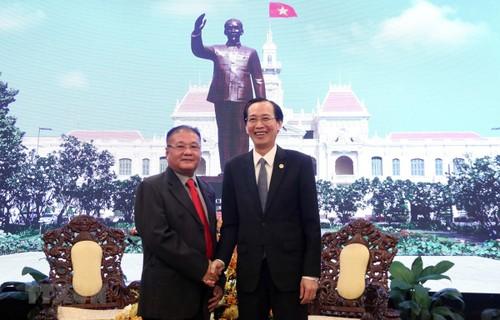 Lãnh đạo Thành phố Hồ Chí Minh tiếp Đặc phái viên Chính phủ Hoàng gia Campuchia - ảnh 1