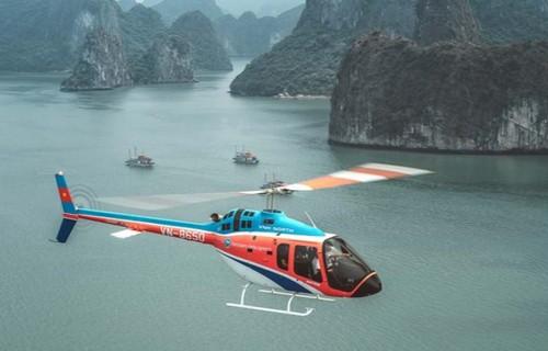 Visiter la baie d'Ha Long en hélicoptère - ảnh 1