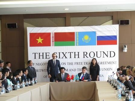 Kết thúc vòng đàm phán thứ 6 FTA giữa Việt Nam và Liên minh Hải quan Nga – Belarus – Kazakhstan  - ảnh 1