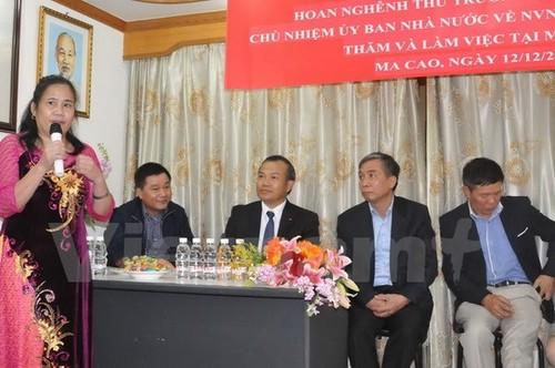 Chủ nhiệm Ủy ban Nhà nước về người Việt Nam ở nước ngoài gặp gỡ cộng đồng người Việt tại Macau - ảnh 1