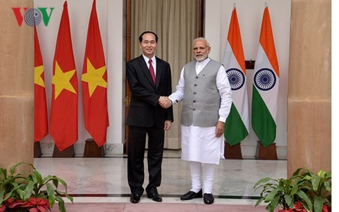 Chủ tịch nước Trần Đại Quang hội đàm với Thủ tướng Ấn Độ Narendra Modi - ảnh 1