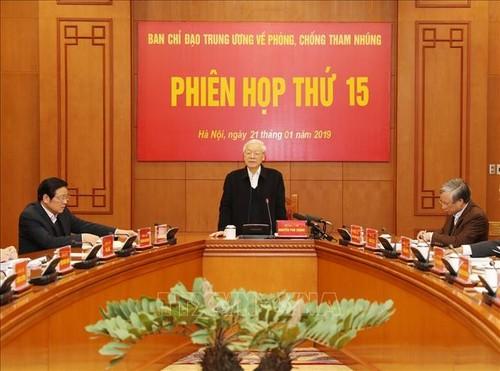 Phiên họp thứ 15 Ban Chỉ đạo Trung ương về phòng, chống tham nhũng - ảnh 1