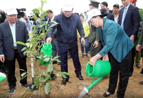 Chủ tịch Quốc hội dự Lễ ra quân hưởng ứng Tết trồng cây tại Hòa Bình - ảnh 1