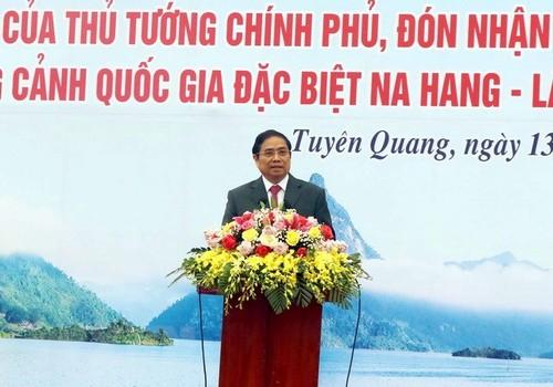 Trưởng ban Tổ chức Trung ương Phạm Minh Chính dự lễ phát động thi đua tại tỉnh Tuyên Quang - ảnh 1