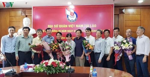 Đại sứ Việt Nam tại Lào chúc mừng các cơ quan báo chí - ảnh 1