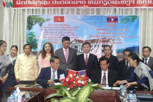 Việt Nam tặng Lào Trung tâm phòng chống và điều trị sốt rét  - ảnh 1