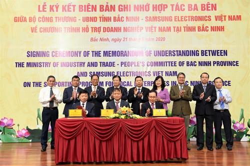 Ký kết chương trình hỗ trợ doanh nghiệp Việt Nam tại Bắc Ninh - ảnh 1