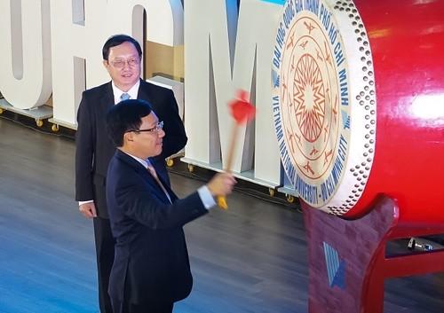 Phó Thủ tướng Phạm Bình Minh dự khai khóa Đại học Quốc gia Thành phố Hồ Chí Minh - ảnh 1