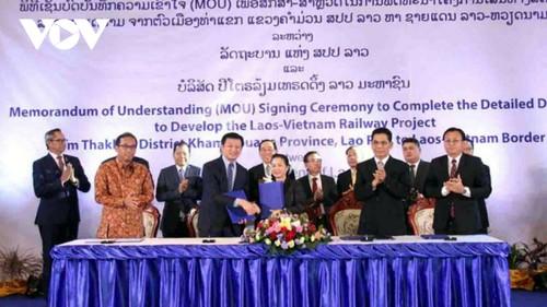 Đẩy mạnh triển khai dự án đường sắt Thakhek-Vũng Áng - ảnh 1