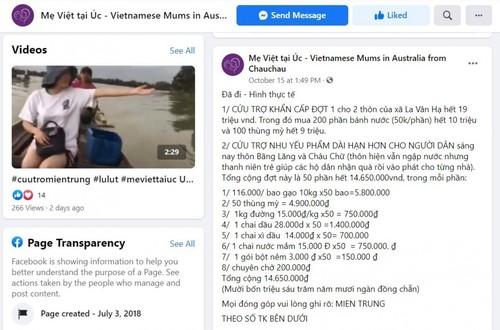 Cộng đồng người Việt tại Australia chung tay hỗ trợ đồng bào miền Trung - ảnh 1