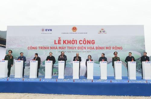 Thủ tướng phát lệnh khởi công Dự án Nhà máy thủy điện Hòa Bình mở rộng - ảnh 1