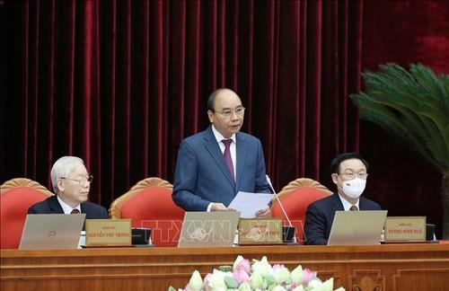 Ngày làm việc thứ nhất của Hội nghị lần thứ ba Ban Chấp hành Trung ương Đảng khóa XIII - ảnh 2
