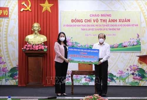 Phó Chủ tịch nước Võ Thị Ánh Xuân làm việc tại tỉnh Đồng Tháp - ảnh 1
