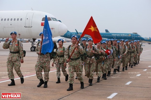"Vietnamese ""blue beret"" officers - Messengers of peace"