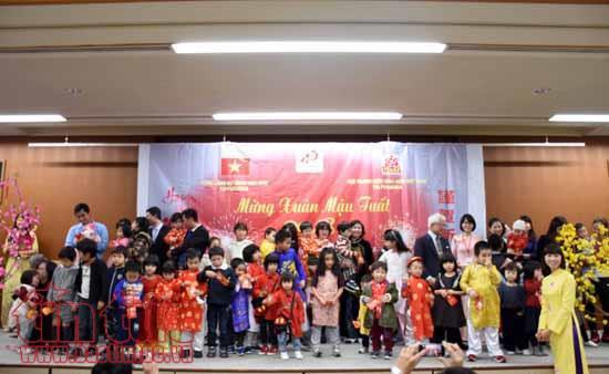Compatriotas vietnamitas en ultramar celebran fiestas en saludo al Tet tradicional 2018 - ảnh 1