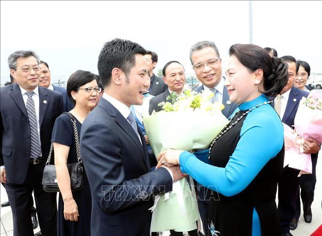 Líder parlamentaria de Vietnam inicia su visita de trabajo a China - ảnh 1