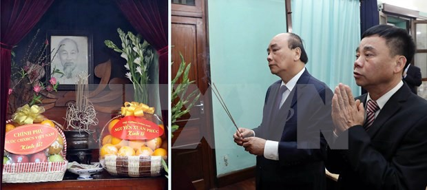 Premier vietnamita rinde tributo al presidente Ho Chi Minh en ocasión del Tet 2020 - ảnh 1