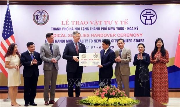 Capital vietnamita apoya a Nueva York en la lucha contra el Covid-19 - ảnh 1