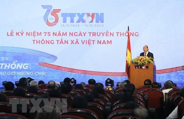 Máximo líder de Vietnam felicita 75 años de la fundación de la VNA - ảnh 1