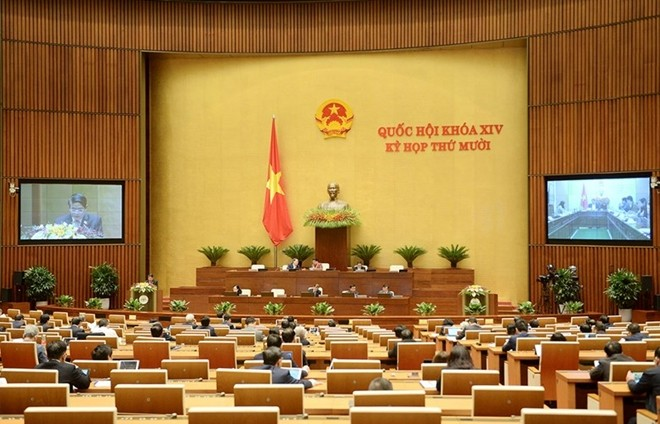 Asamblea Nacional de Vietnam continúa agenda de trabajo del X período de sesiones, XIV legislatura  - ảnh 1