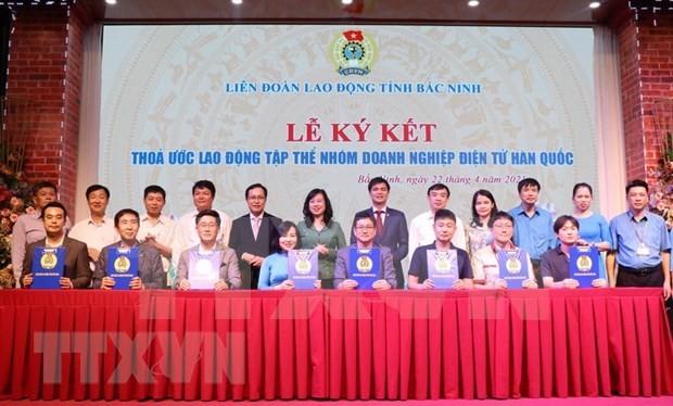 Firman convenio colectivo de trabajo entre empresas surcoreanas y trabajadores vietnamitas - ảnh 1