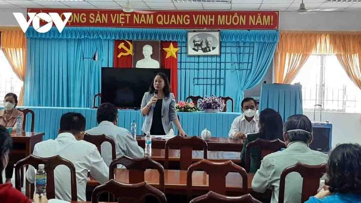 La vicepresidenta Vo Thi Anh Xuan pide mayor atención para personas necesitadas de Tien Giang - ảnh 1