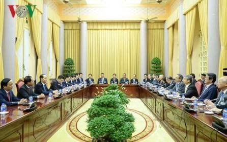 Presidente vietnamita trabaja con líderes de Comité Económico Japón-Vietnam - ảnh 1
