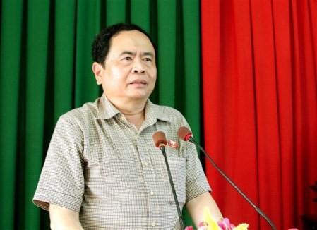 Líder del Frente de la Patria de Vietnam se reúne con electores en Can Tho - ảnh 1